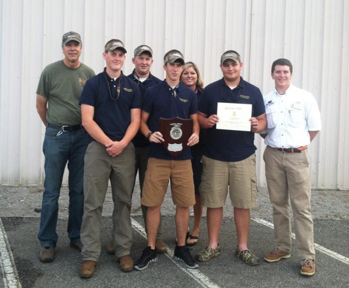 Thurmond FFA Agronomy Team Places 2nd in the State