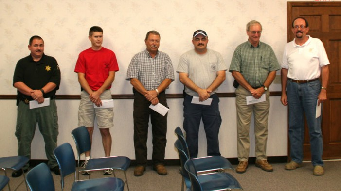 Johnston Thanks Volunteer Firemen
