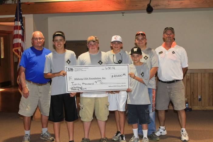 Wardlaw Shooting Team Receives $20,000 Gift Through NWTF