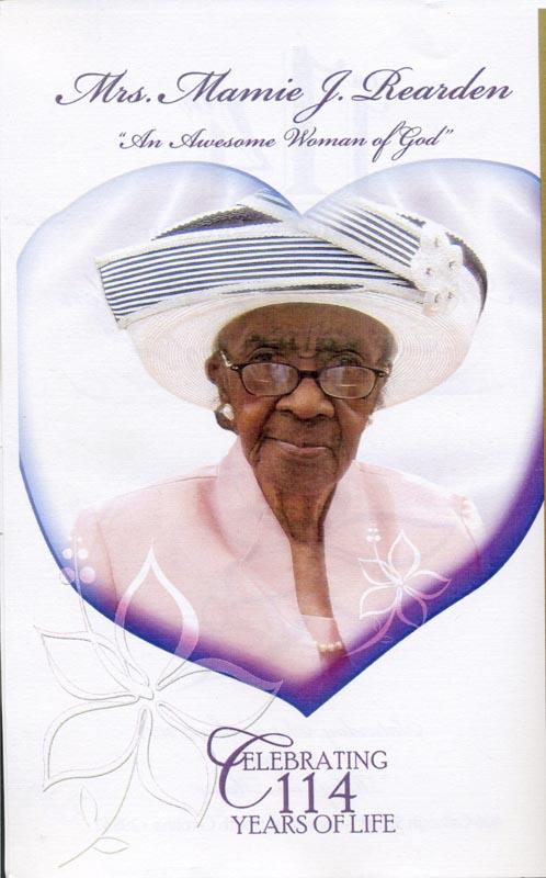Mrs. Mamie J. Rearden, Age 114
