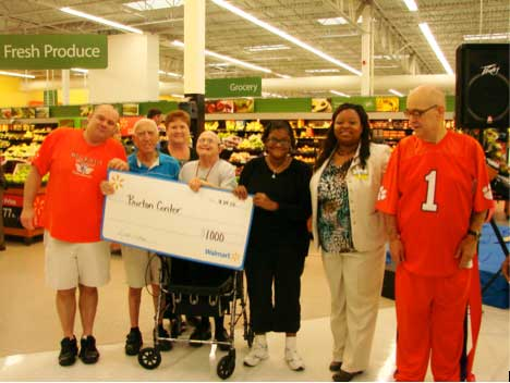 Burton Center Receives Donation from Walmart