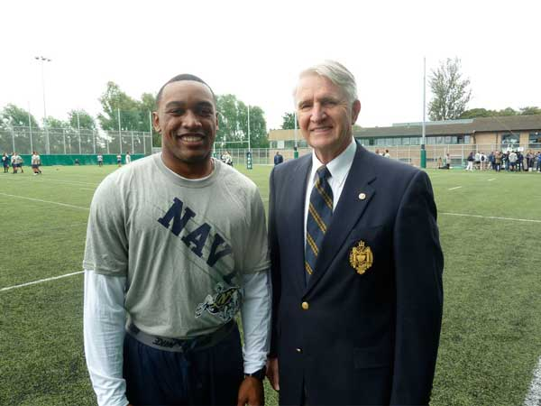 Edgefield's Tra'ves Bush Leads Navy Football Team In Ireland