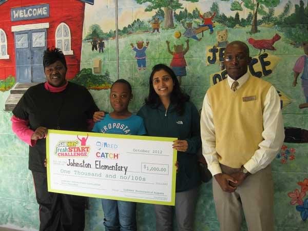 Celebrates Her Fresh Start Challenge Award