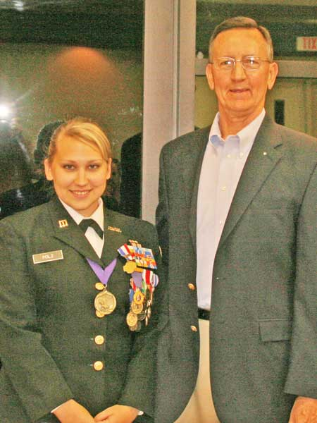STHS Cadet Lieutenant Jacqueline Polz Awarded Legion of Valor Bronze Cross