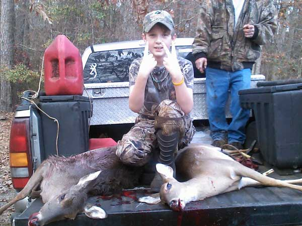 11-Year-Old Harvests Two Deer with One Shot