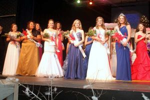 Pictured are winners in the Miss Statesman contest of January 12, 2013:Miss Congeniality, Amanda Biddlecome; Miss Freshman, Jessica Johnson; Miss Sophomore, Taylor Murrell;  Miss Junior, Maggie Childress; Miss Senior, Allie Jhant;  and Miss Statesman, Megan Sherman.