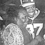 50 Cent is shown with his great-aunt Betty Washington off Johnston.