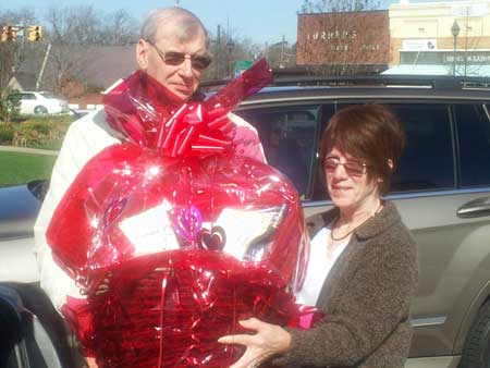 Darlene Abrahams Wins the Gift Basket