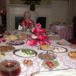 "Clarice Wise attends the tea service at the end of a special ""spread"" which included  watercress sandwiches!"