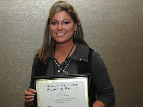 Steele Named as Outstanding Advisor for STHS FFA