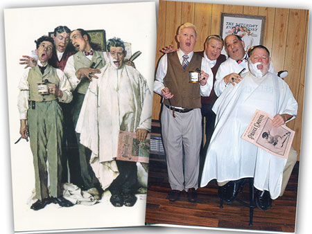 Local Barber Shop Quartet Brings Rockwell's Painting to Life