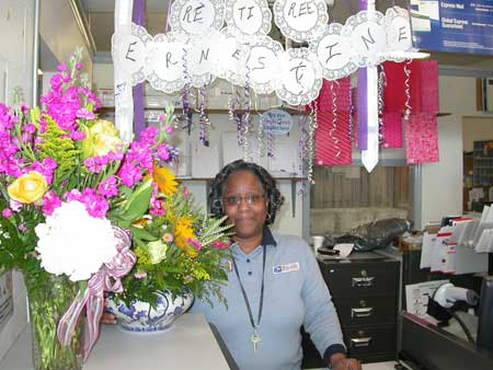 Ernestine Brown Retires from the Post Office after 29 Years
