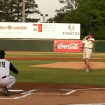 Johnston Mayor Andy Livingston throwing out the first pitch.