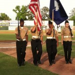 NJROTC unit from STHS posting the colors.