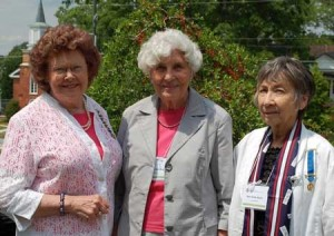 Judy Dancy Duncan, V-P Saluda County Historical Society; Dr. Bela Padgett Herlong, Chairperson, SCHS - Grant Writers & DAR members; Sara Potts Sears, Regent, Old 96 District Chapter, National Society Daughters of the American Revolution