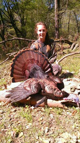 Kate Boyd Harvests First Turkey