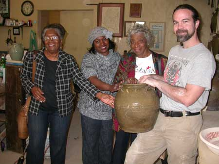Dave the Potter Brings Visitors to Town