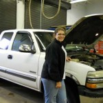 Lydia Sinclair, automotive technology student, February nontraditional student of the month.