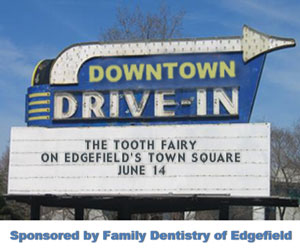 Downtown Drive-In Movie on the Edgefield Square – Friday, June 14