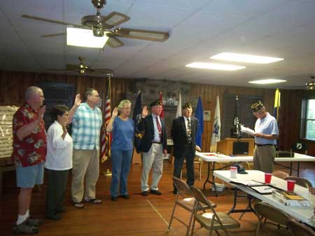 American Legion Post Installs New Officers