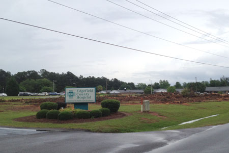 ECH Cuts Trees – New Look Coming for Hospital
