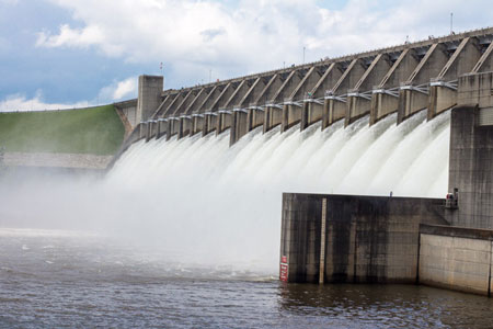 Spillways Opened at Lake Thurmond Dam