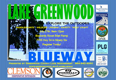 'Come Explore the Outdoors' at Lake Greenwood During Blueway Event