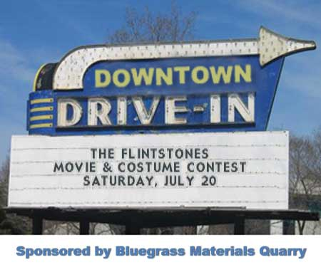 Downtown Drive-In Movie & Costume Contest on the Square this Saturday
