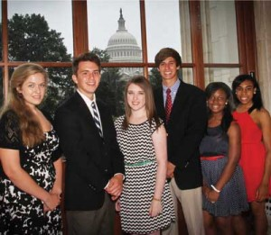 Ashley Axson, Joshua Cady, Erin Sweeney, Christian Carey, Chelsea Argroe and Destiny Ligons represented Aiken Electric Cooperative in June at the nation's capital.