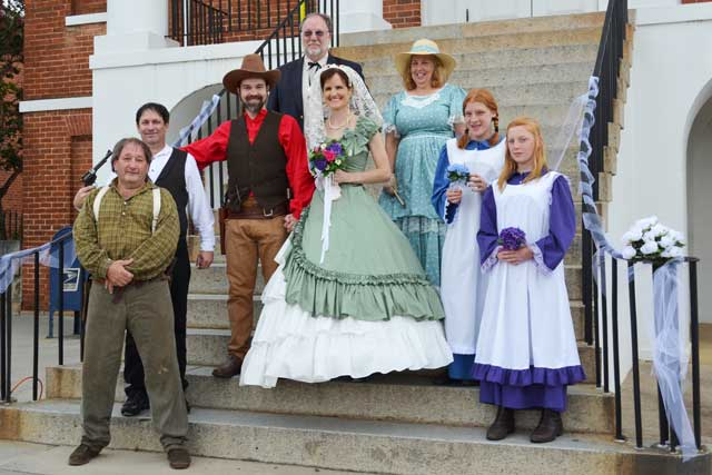 A Wedding Re-Enactment on the Courthouse Steps; Interrupted by a Gunfight