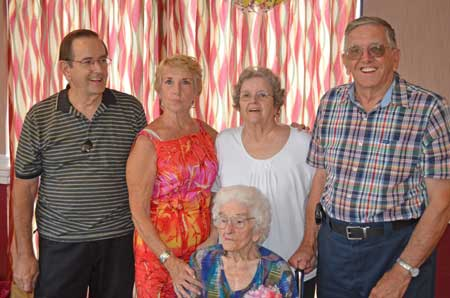 Celebrates 100th Birthday With Family