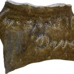 This piece of pottery is from the pot which was found on SRS and was the catalyst to the film being created.