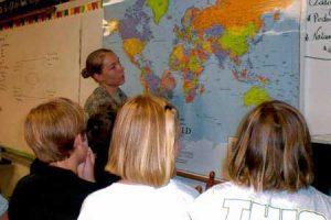 "Specialist Elizabeth (""Liz"") Stone visits Wardlaw Academy 4th Grade Class"