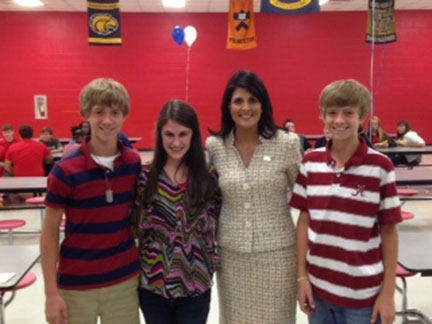 J.E.T. Hosts S.C. Governor Nikki Haley
