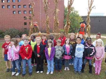 Merriwether Elementary Visits Pumpkin Patch