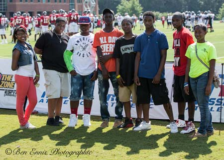 Youth Attend Falcons Training Camp