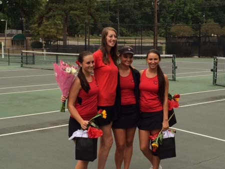 Fox Creek Tennis Honors Seniors at Final Home Match