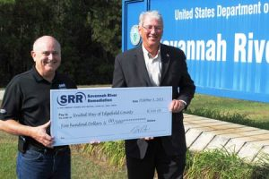 SRR Zero Injuries Nets $500 to the United Way of Edgefield County