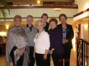 L to R:  Judy Murphy Sechrist  Augusta, Ga.,  Joyce  Barinowski,  Merriwether District, Edgefield County, Gina Bridgers, N. Augusta, Deanna Atkinson, N. Augusta,  Wally Russ, Greenwood, SC  and Anne Sawyer, Merriwether District, Edgefield County.