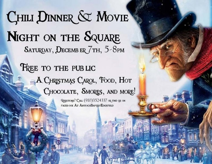 Chili Dinner & Movie Night on the Square this Saturday