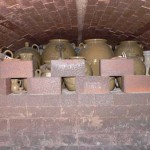 A group of pots recently fired in the Groundhog Kiln on Crest Rd., Edgefield