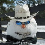 Cowboy Snowman - Made by Stephanie Mims & Debra Mims