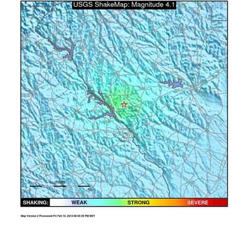 4.1 Magnitude Earthquake Strikes Edgefield County