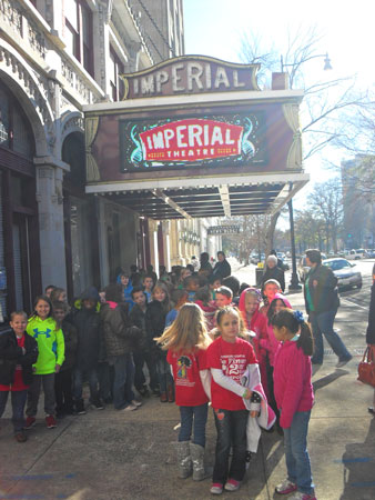 Second Grade at Merriwether Elementary Attend Storyland Theatre