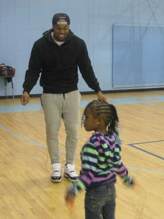 Dekoda Watson Promotes Jump Rope for Heart