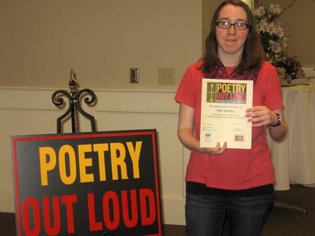 Eden Weidman Poetry Out Loud Regional Finalist