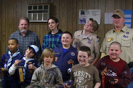 Scouts Hold Pinewood Derby Race