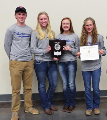 STHS FFA Tool ID Team Takes 2nd at State