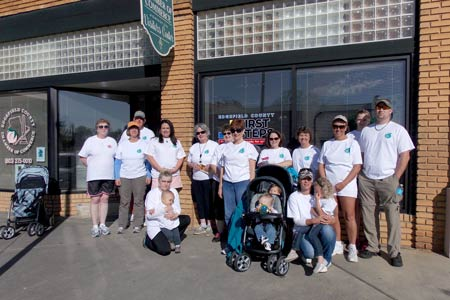 Strollers Took to the Street for Cancer