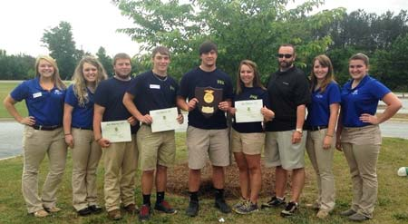 Thurmond FFA Takes First Place in Turf Grass Competition